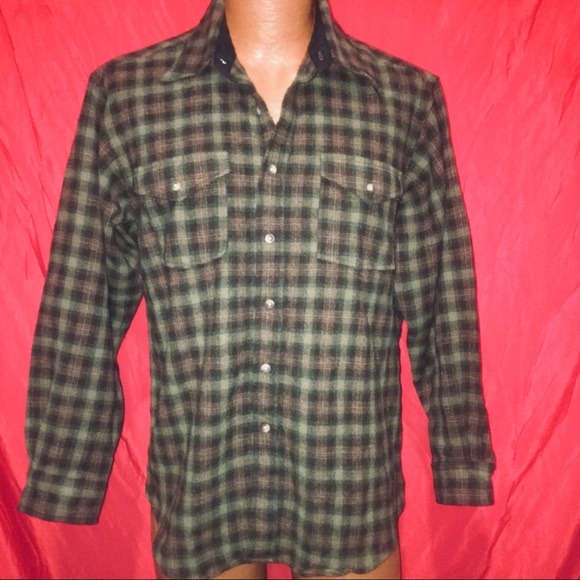 Pendleton Other - PENDLETON MENS LARGE 100% WOOL OUTDOOR SHIRT L@@K